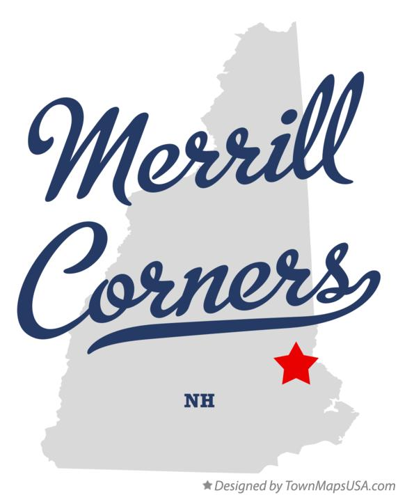 Map of Merrill Corners New Hampshire NH