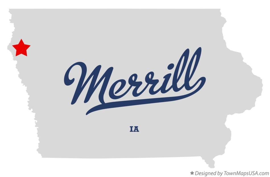 Map of Merrill Iowa IA