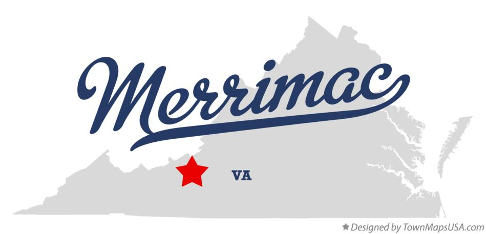 Map of Merrimac Virginia VA