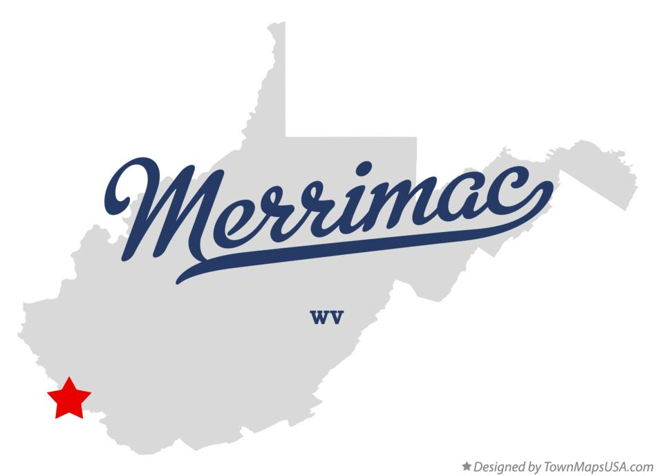 Map of Merrimac West Virginia WV