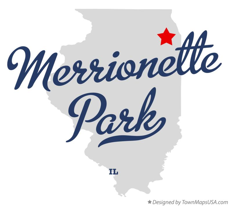 Map of Merrionette Park Illinois IL