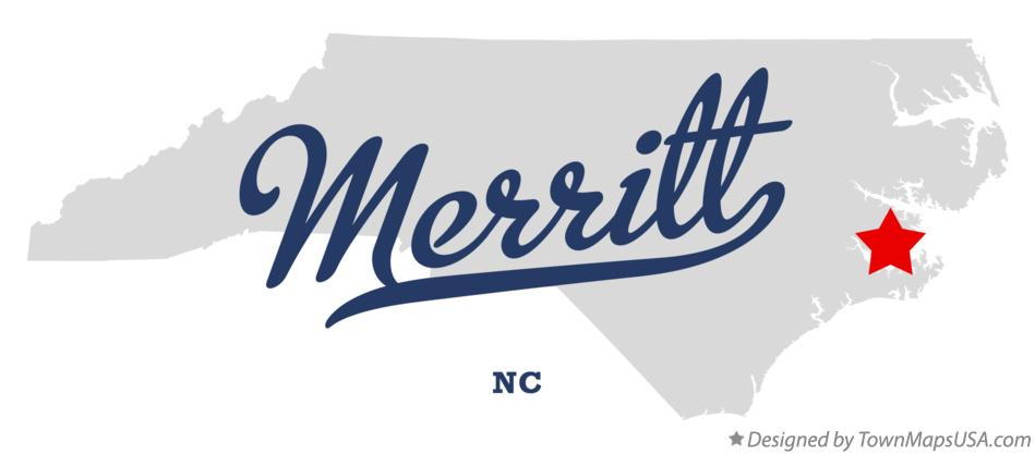 Map of Merritt North Carolina NC