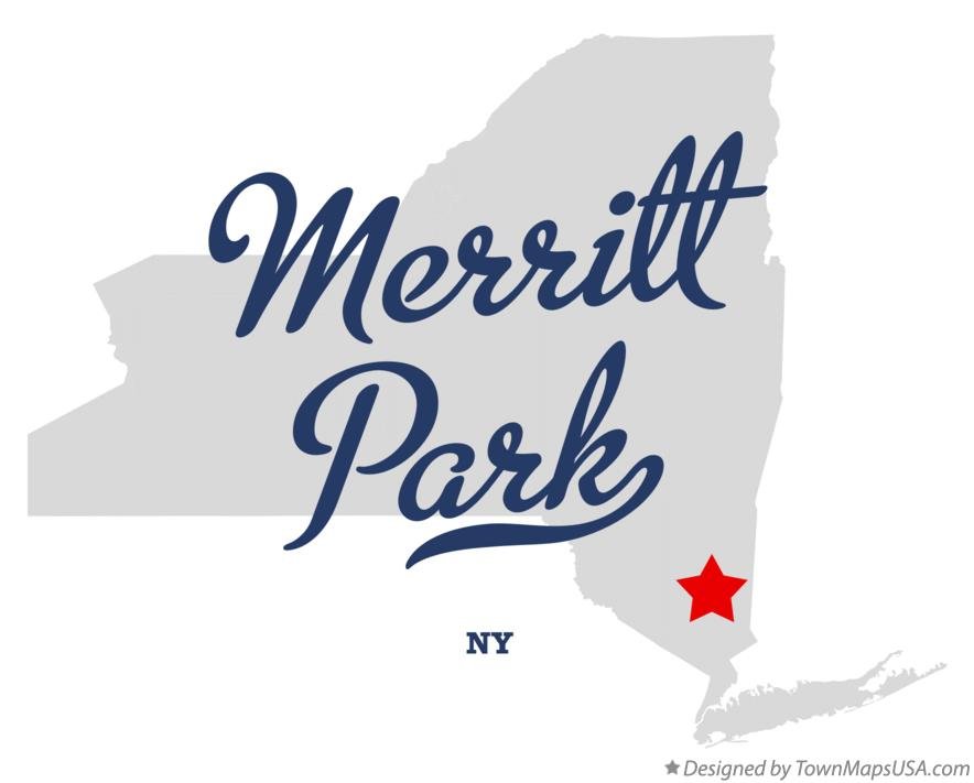 Map of Merritt Park New York NY
