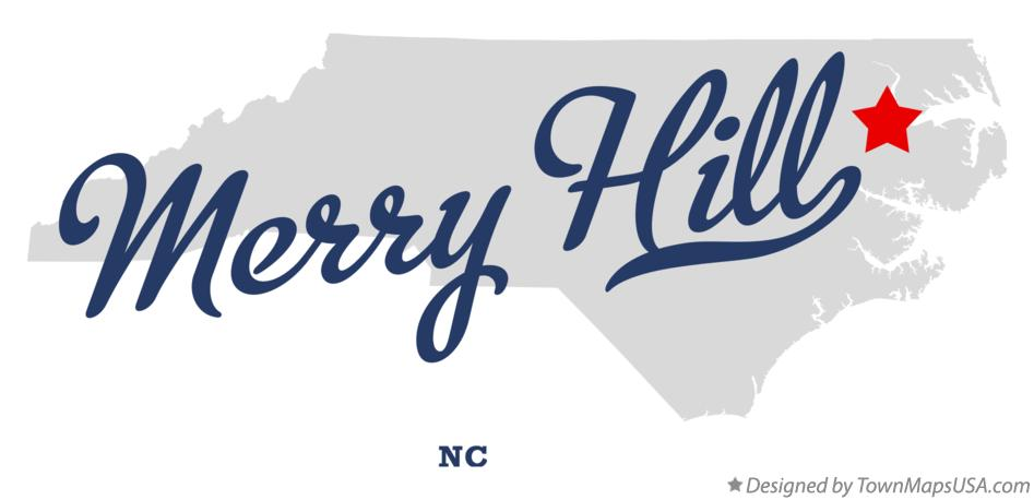 Map of Merry Hill North Carolina NC