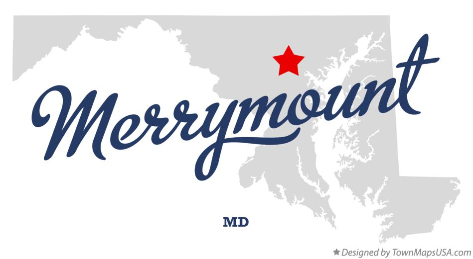 Map of Merrymount Maryland MD
