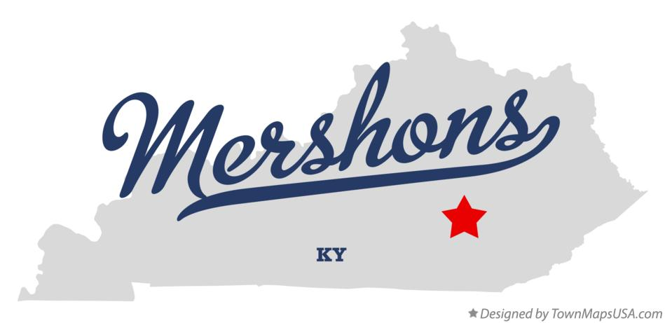 Map of Mershons Kentucky KY