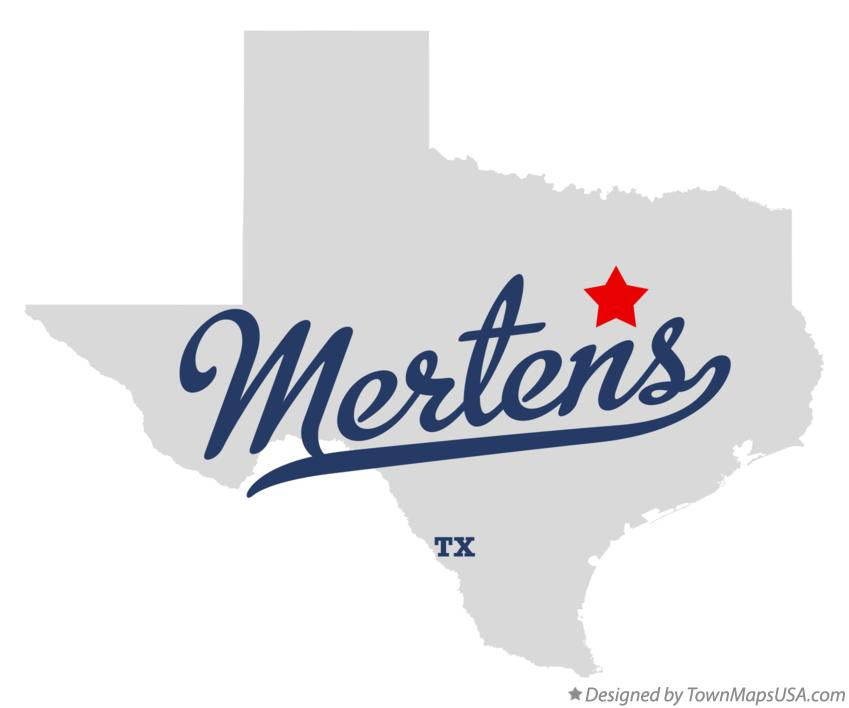 Map of Mertens Texas TX