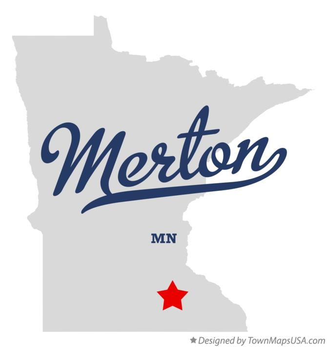 Map of Merton Minnesota MN