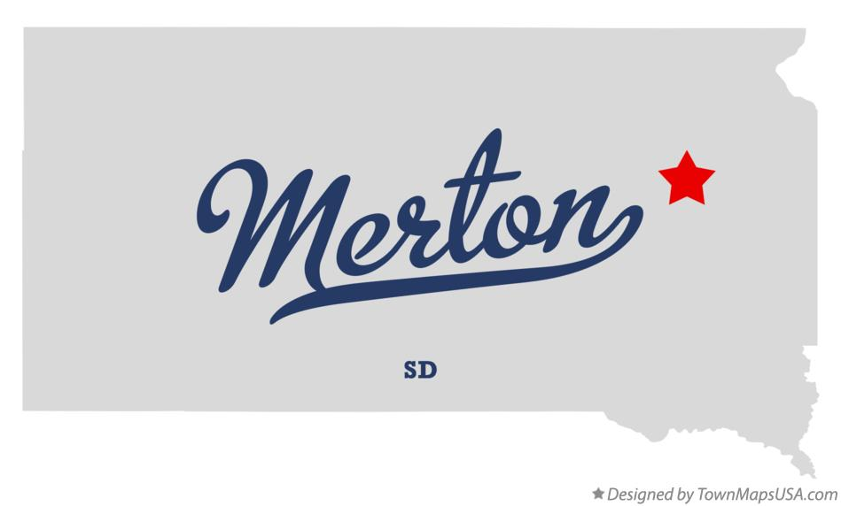 Map of Merton South Dakota SD