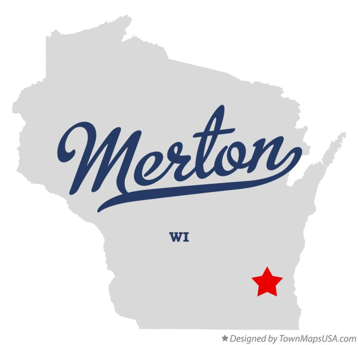 Map of Merton Wisconsin WI