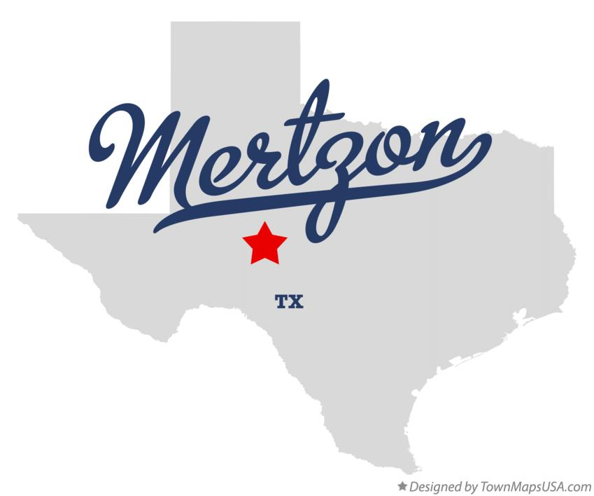 Map of Mertzon Texas TX