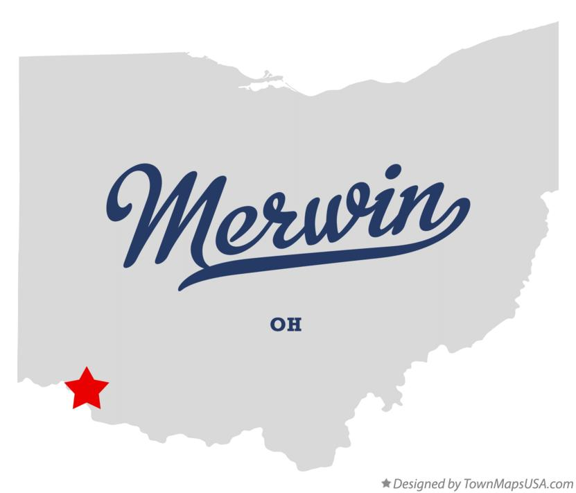 Map of Merwin Ohio OH