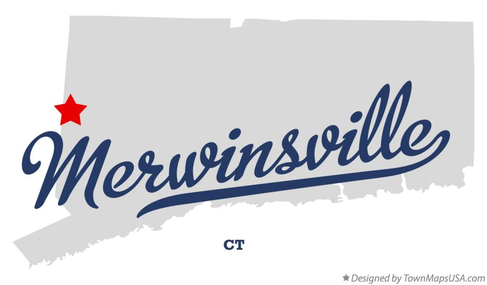 Map of Merwinsville Connecticut CT