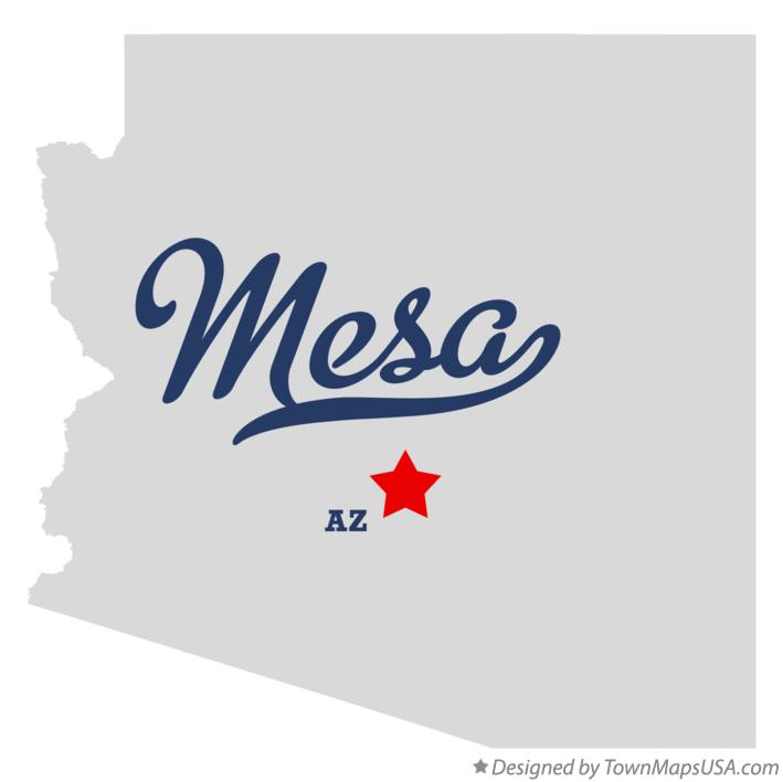 map of mesa az arizona