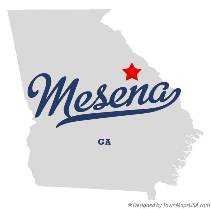 Map of Mesena Georgia GA