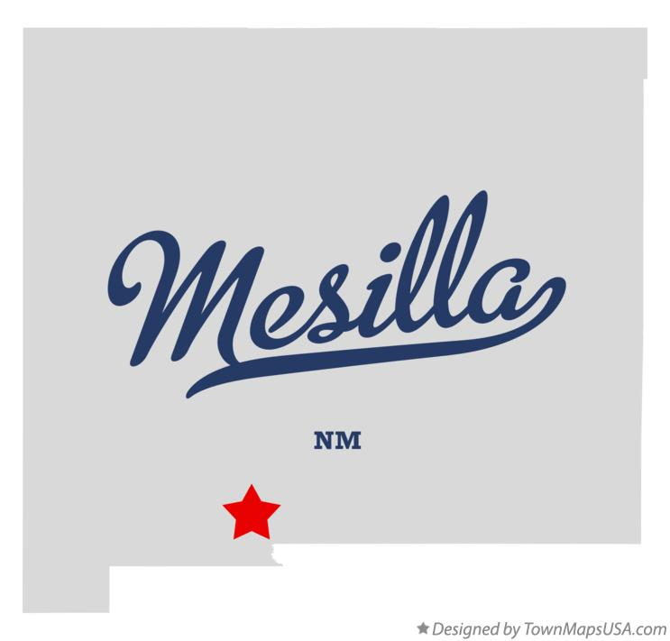 Map of Mesilla New Mexico NM