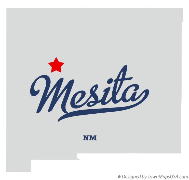 Map of Mesita New Mexico NM