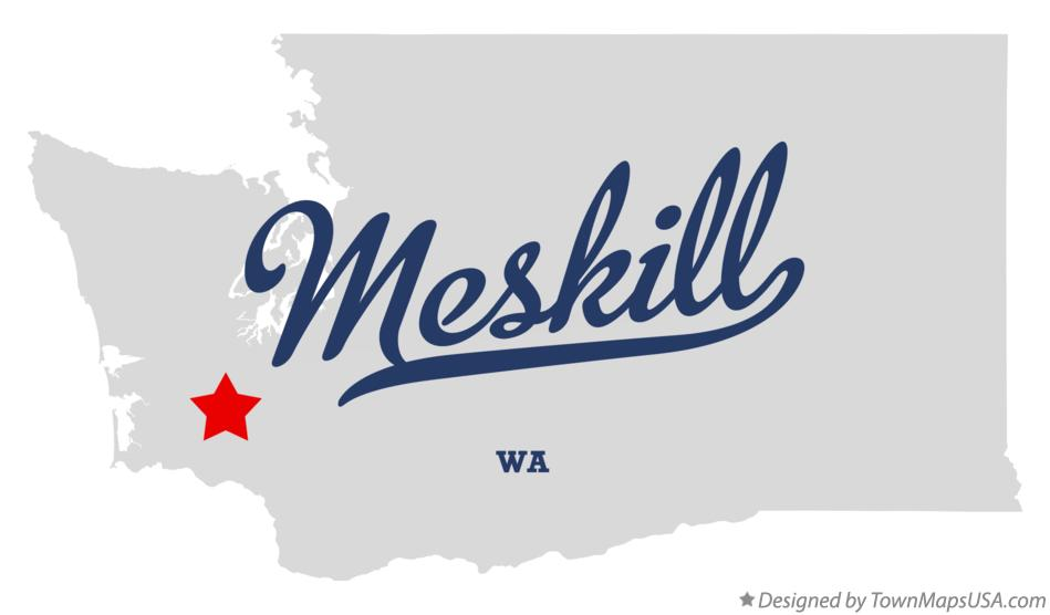 Map of Meskill Washington WA