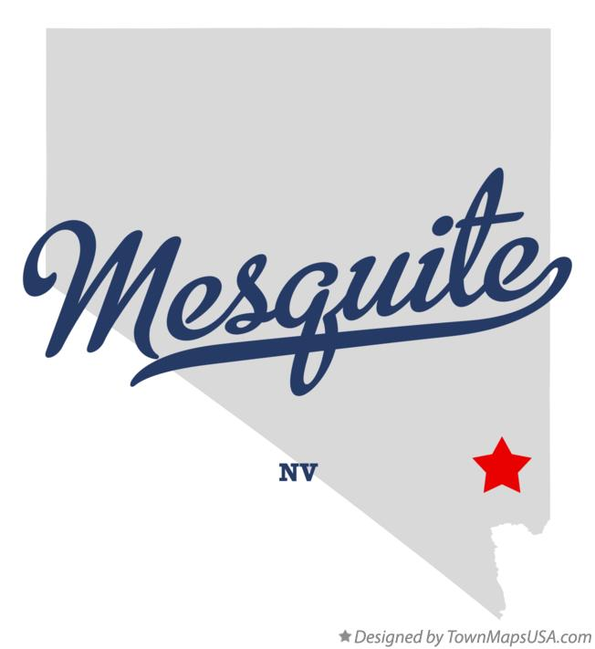 Map of Mesquite Nevada NV