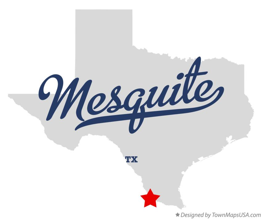 Map of Mesquite Texas TX