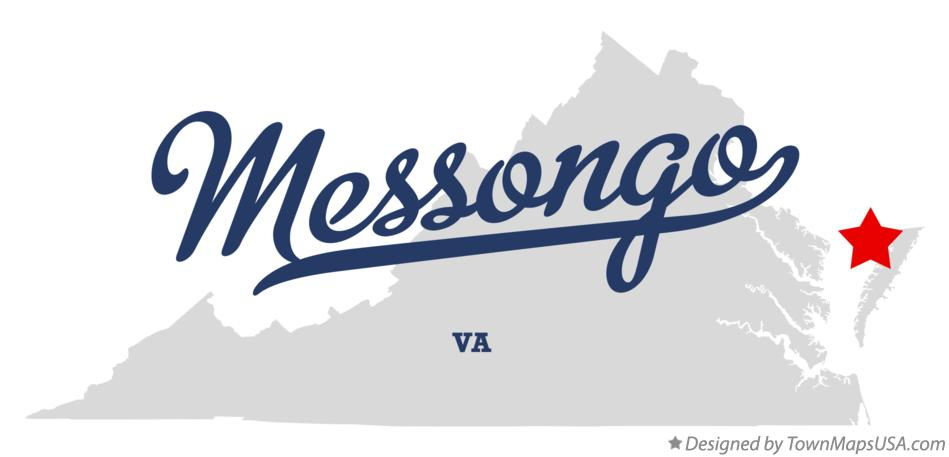 Map of Messongo Virginia VA