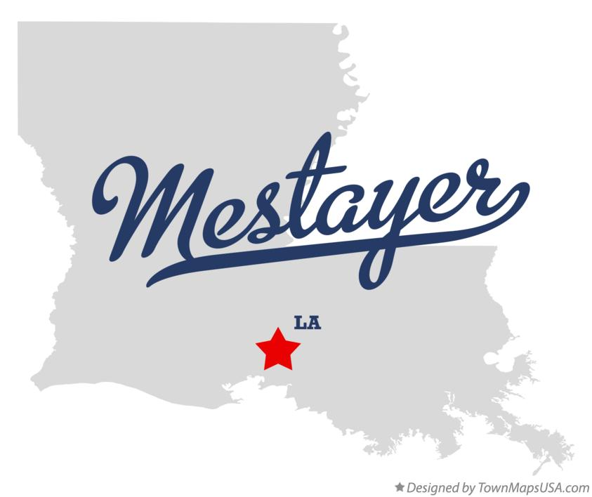 Map of Mestayer Louisiana LA