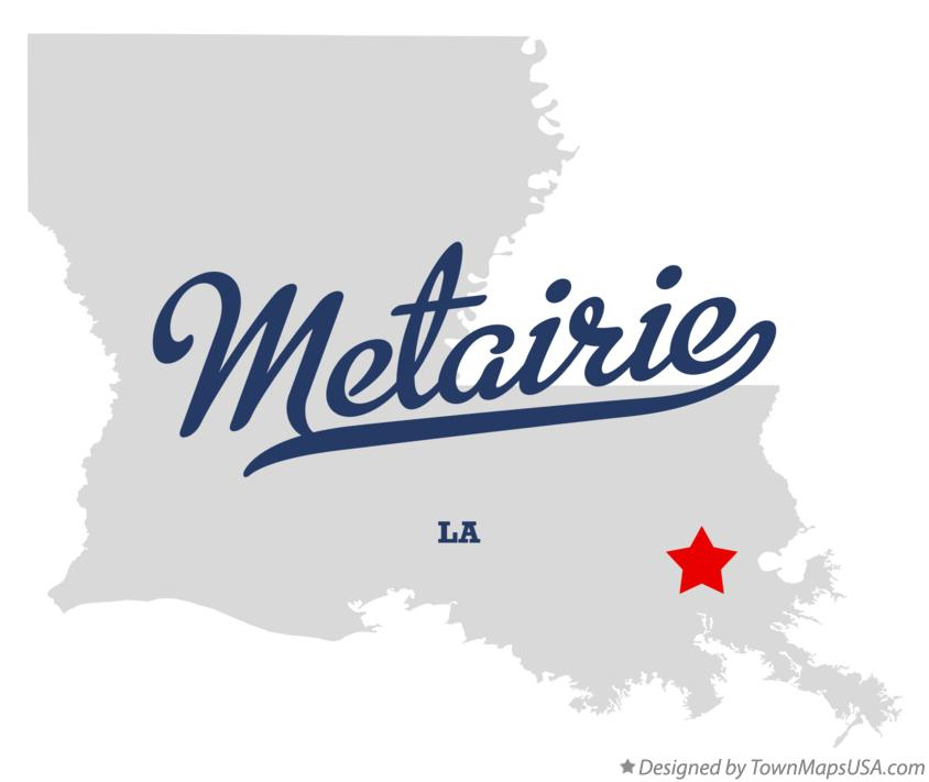 Map of Metairie Louisiana LA