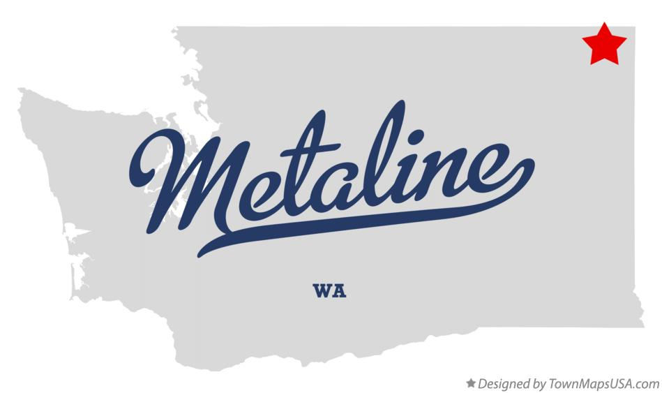 Map of Metaline Washington WA