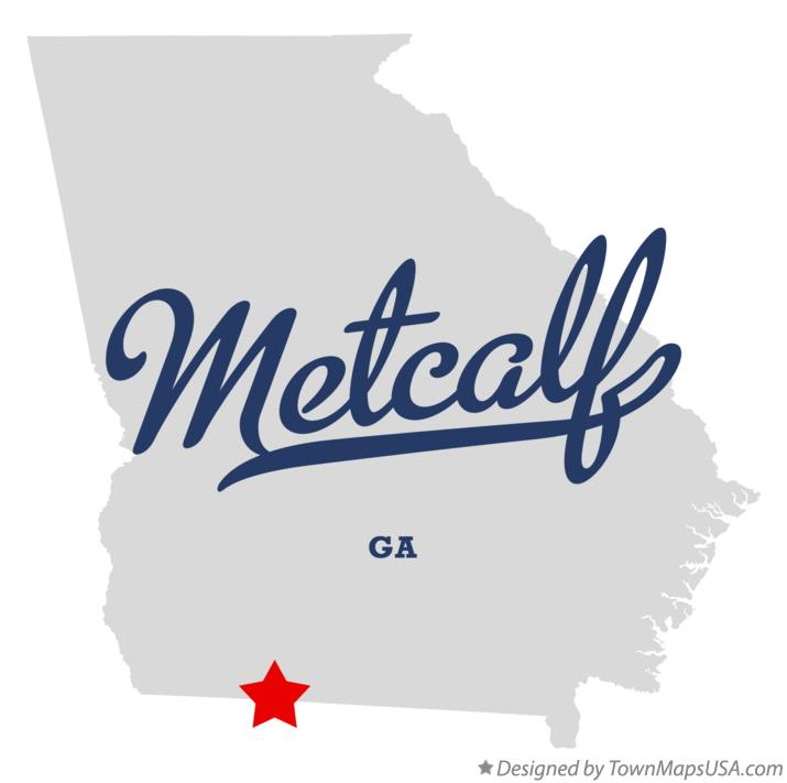 Map of Metcalf Georgia GA
