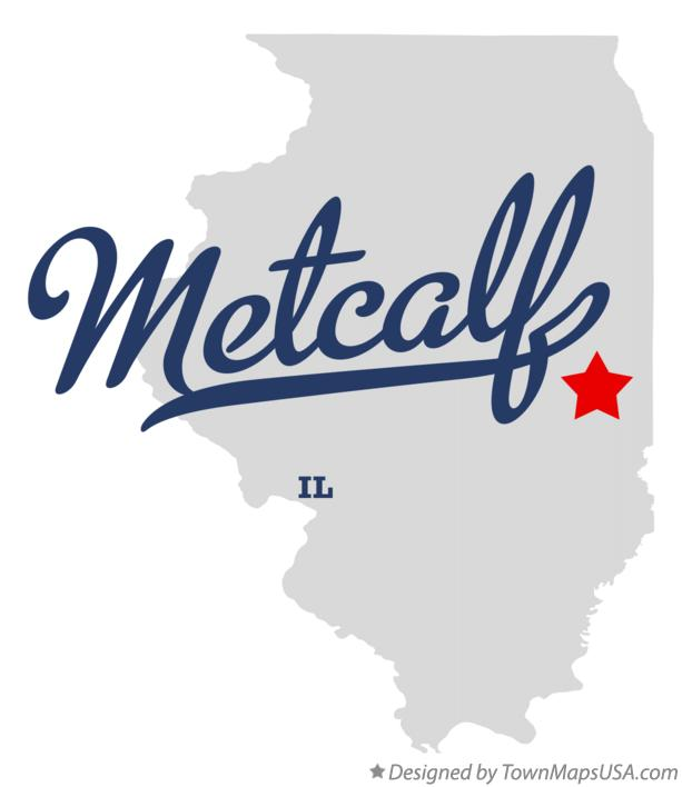 Map of Metcalf Illinois IL