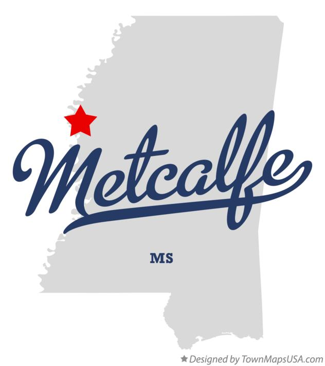 Map of Metcalfe Mississippi MS