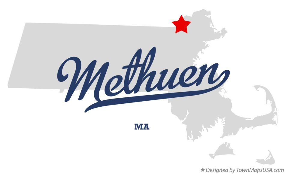 Map of Methuen Massachusetts MA