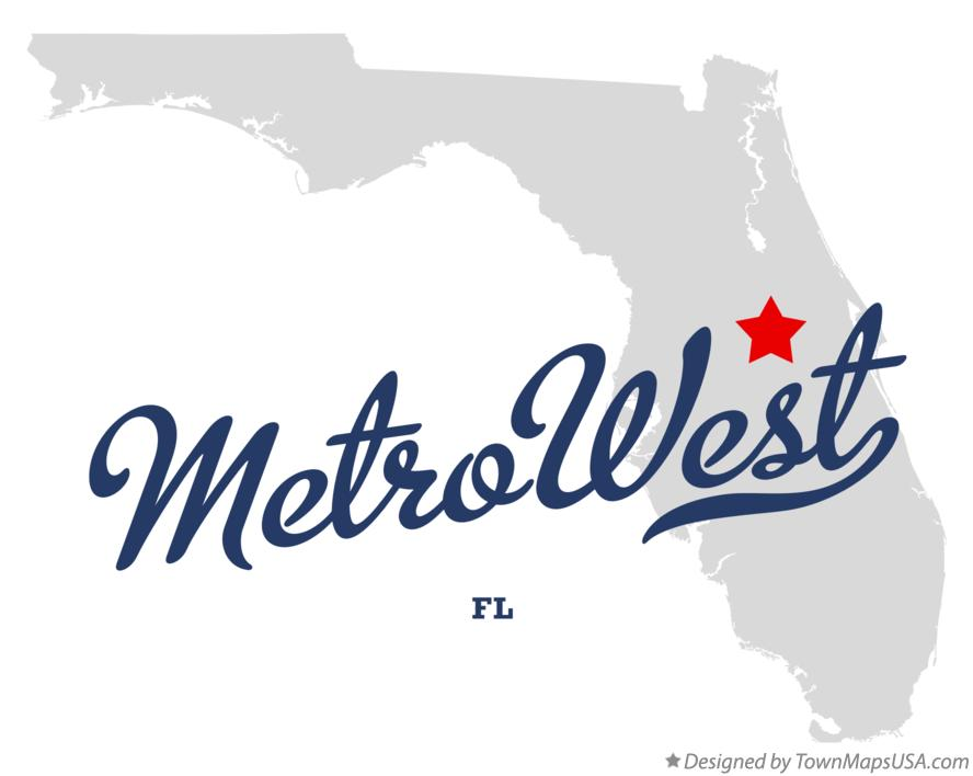 Map of MetroWest Florida FL