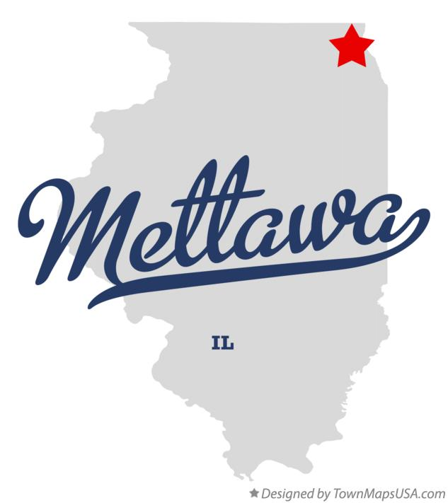 Map of Mettawa Illinois IL