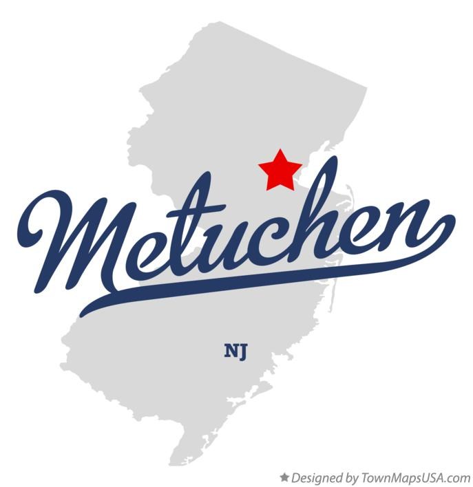 Map of Metuchen New Jersey NJ