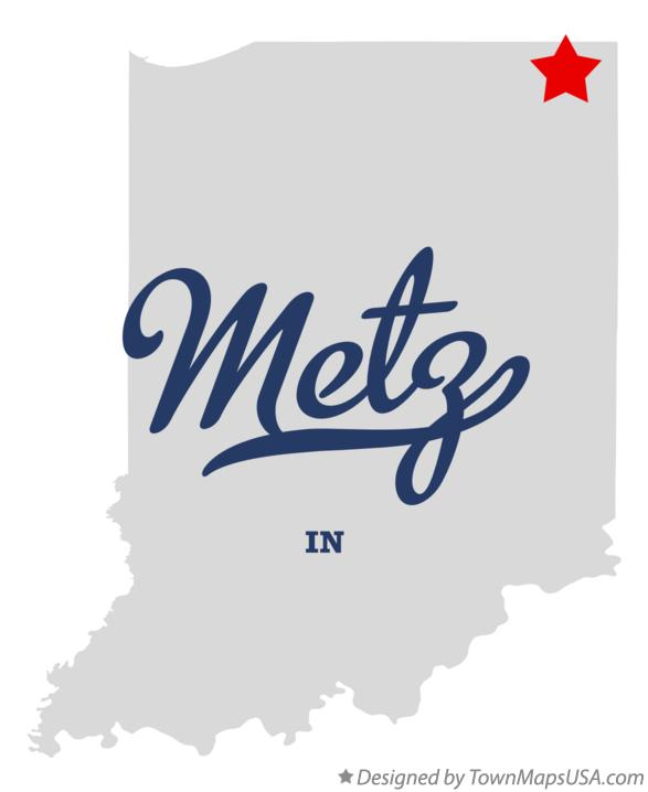 Map of Metz Indiana IN