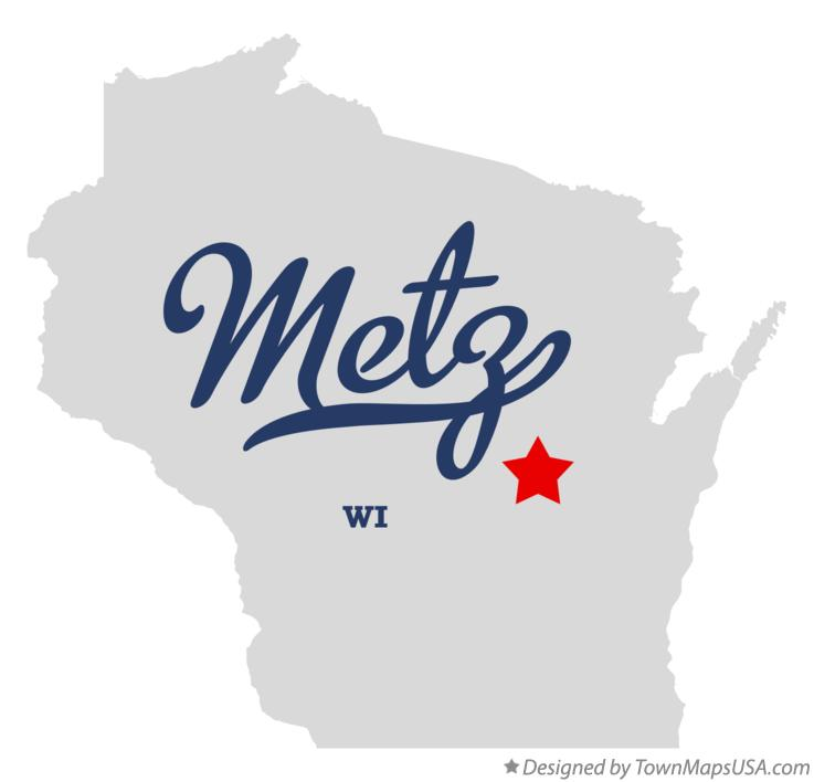 Map of Metz Wisconsin WI