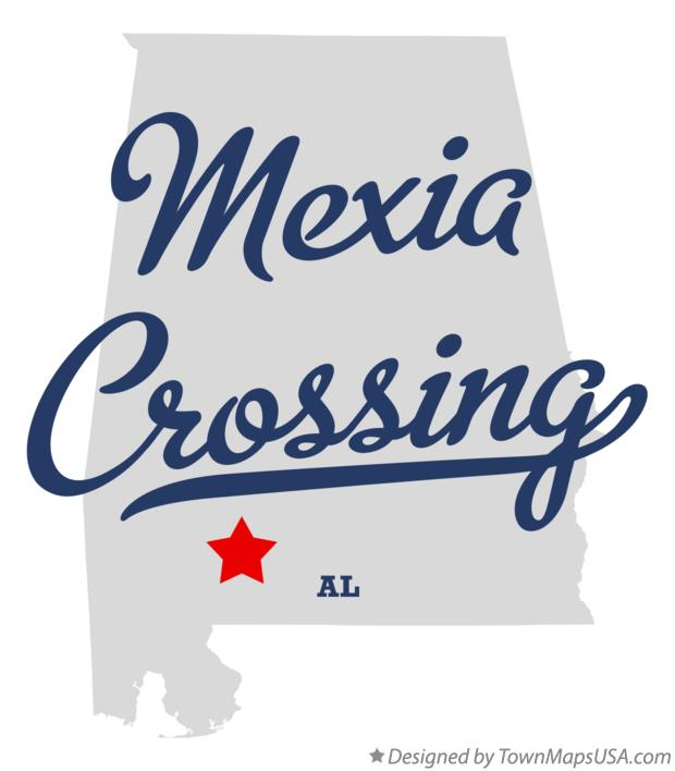 Map of Mexia Crossing Alabama AL