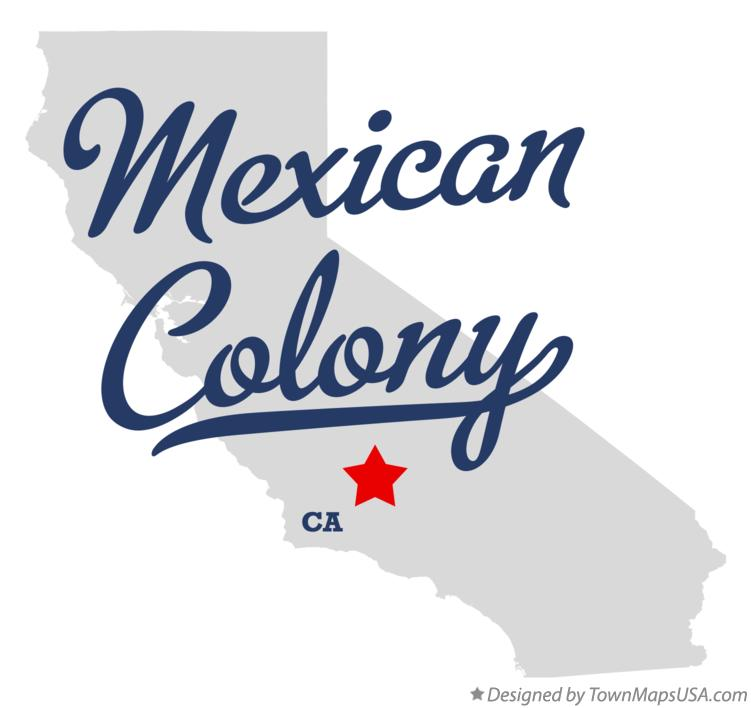 Map of Mexican Colony California CA