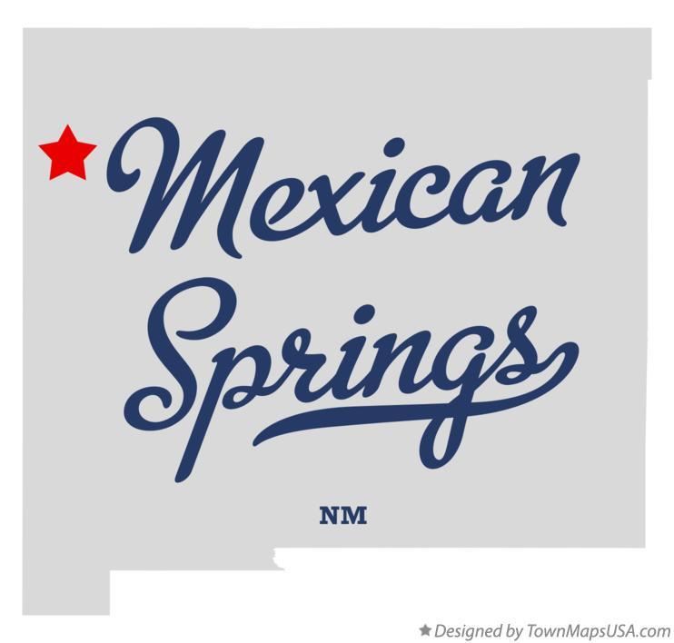 Map of Mexican Springs New Mexico NM