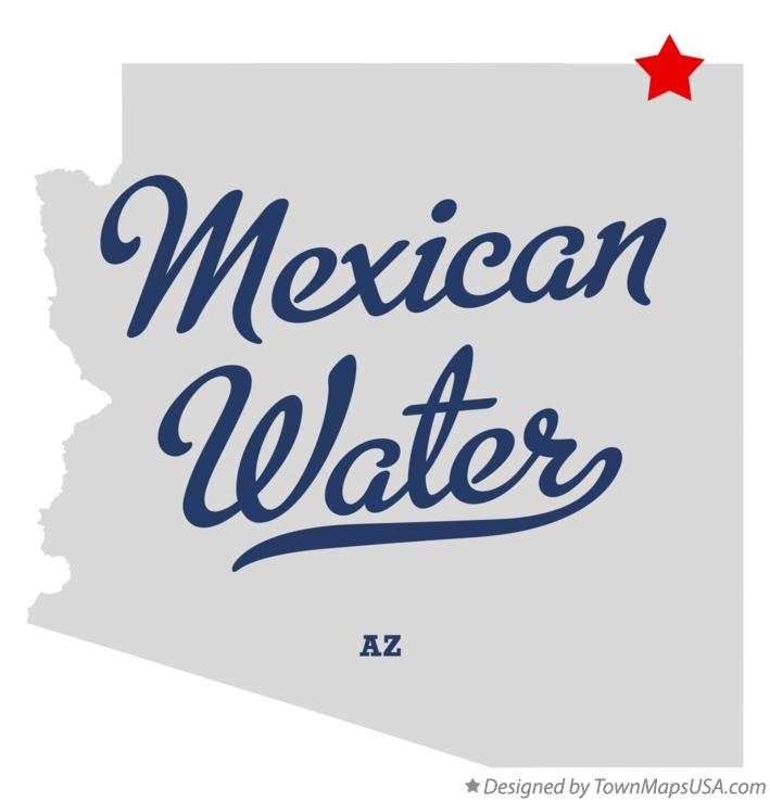 Map of Mexican Water Arizona AZ
