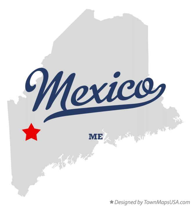 Map of Mexico Maine ME