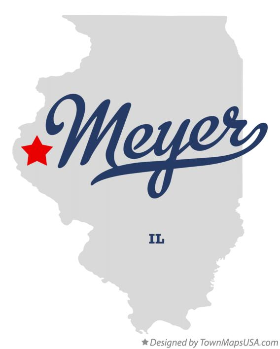Map of Meyer Illinois IL