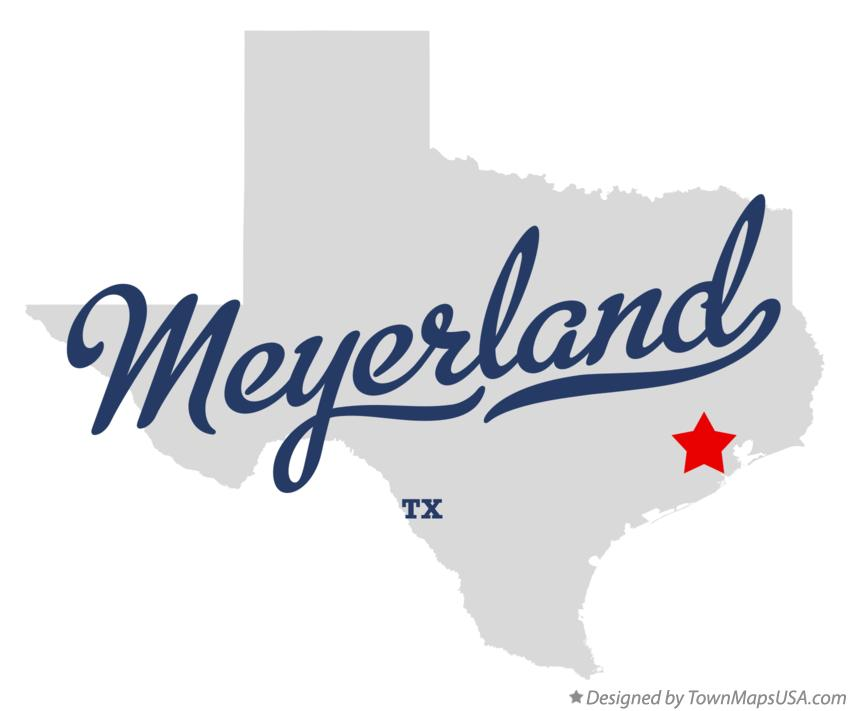 Map of Meyerland Texas TX