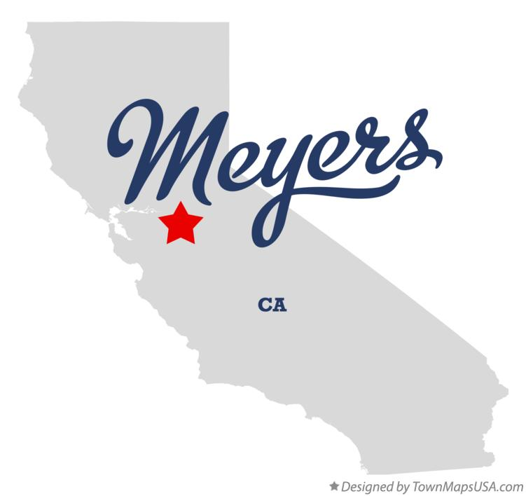 Map of Meyers California CA