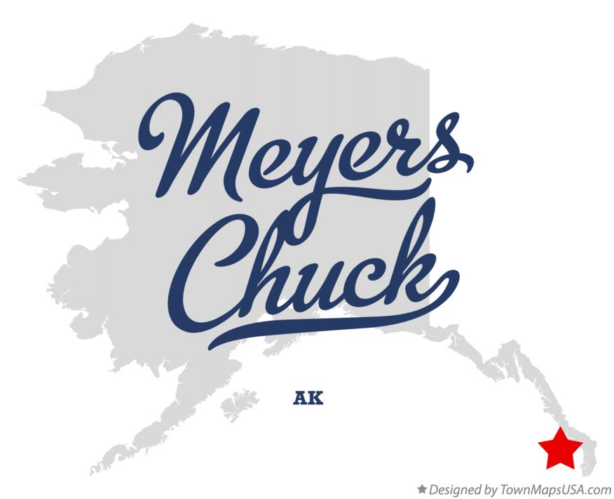 Map of Meyers Chuck Alaska AK