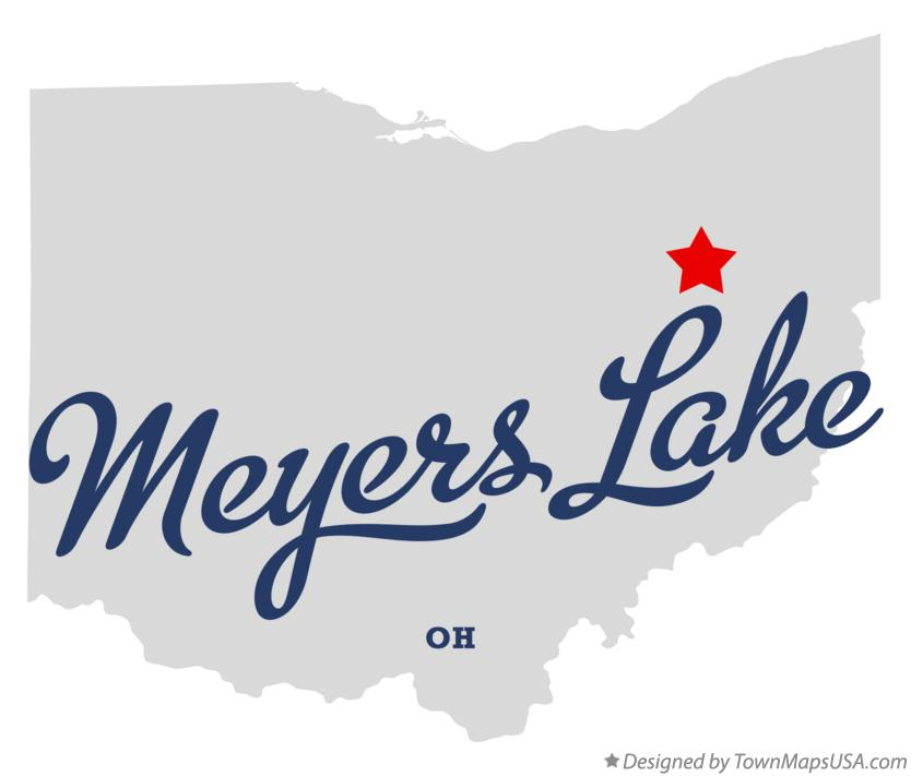 Map of Meyers Lake Ohio OH