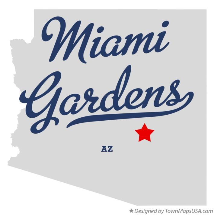 Map of Miami Gardens Arizona AZ