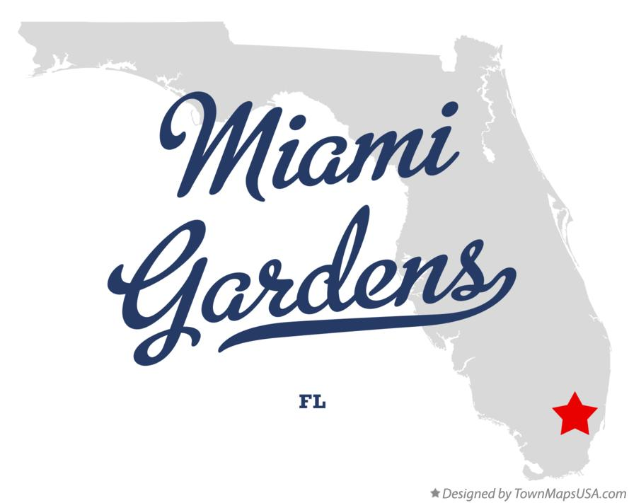 Map of Miami Gardens Florida FL