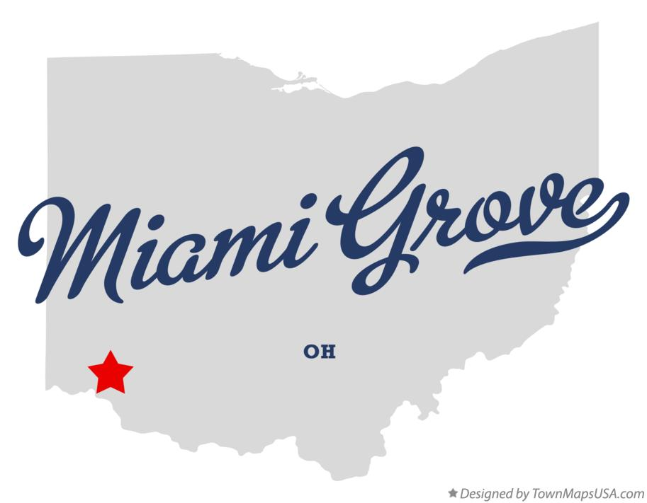 Map of Miami Grove Ohio OH